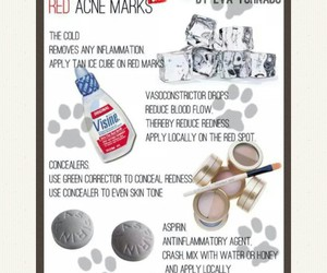 beauty tips and red acne marks image
