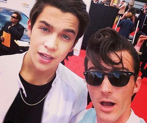 drake bell, austin mahone, and billboard image