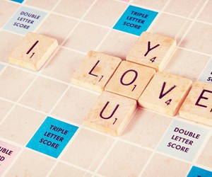 love, you, and scrabble image