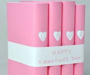 love, pink, and book image