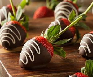 chocolate, strawberries, and happy valentines day image