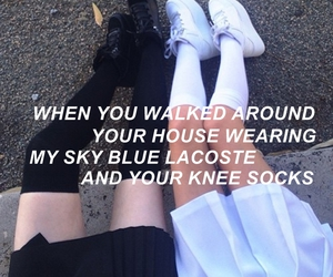 arctic monkeys, grunge, and knee socks image