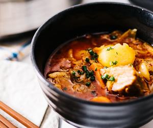food, pork, and soup image