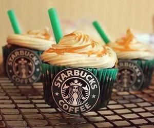 starbucks, cupcake, and food image