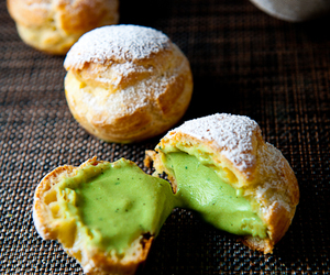 chef, cream puff, and japanese treats image