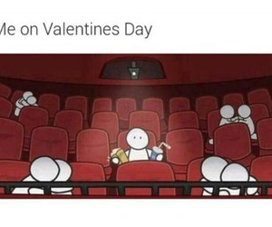 me, alone, and Valentine's Day image