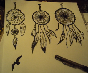 drawing, dreamcatcher, and Dream image