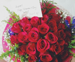 roses, surprise, and loved ones image