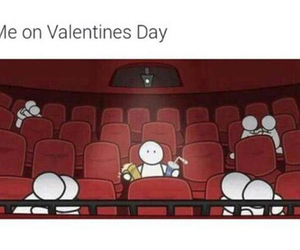 Valentine's Day, alone, and funny image