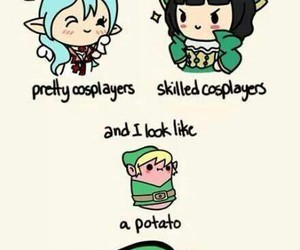 cosplay, potato, and kawaii image
