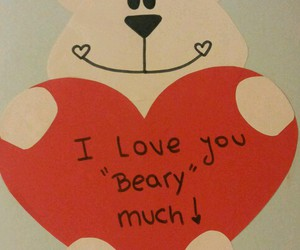 bear, valentine, and love image