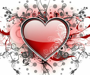 coeur, kiss, and st valentin image