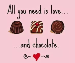 chocolate, love, and pink image