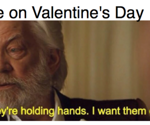 snow, the hunger games, and Valentine Day image