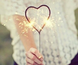 heart and fireworks image
