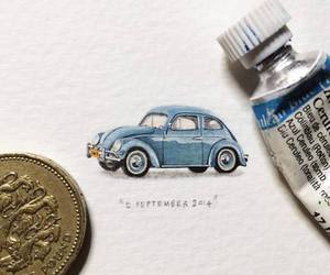 car, drawing, and miniature image
