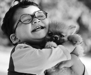 cute, dog, and boy image