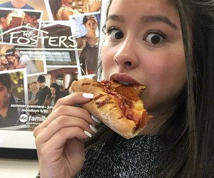 babe, pizza, and the fosters image