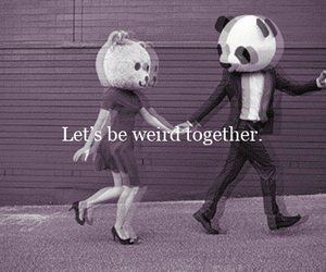 love, panda, and weird image