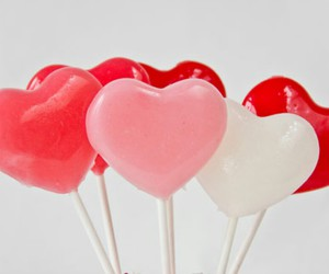 heart, lollypop, and valentinesday image
