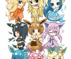 pokemon, eevee, and chibi image