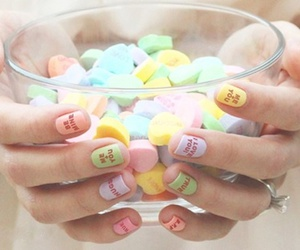 nails, candy, and sweet image