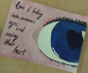 art, eyes, and love image