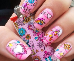 heart, nail, and nail art image
