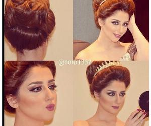 hairstyle, عروس, and تسريحه image