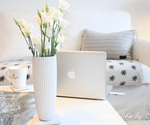 apple, flowers, and white image