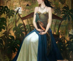 art, regal, and woman image