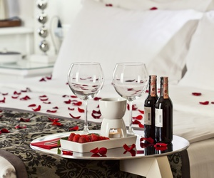 rose, love, and bed image