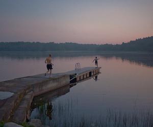 lake, summer, and grunge image