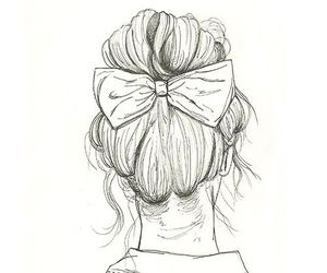 girl, draw, and hair image