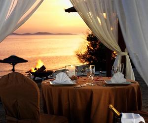 sunset, romantic, and beach image