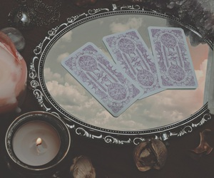 cards, crystals, and tarot image