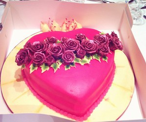 heart, cake, and flower image