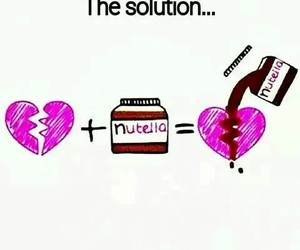 nutella, heart, and solution image
