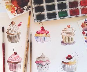 cupcake, drawing, and art image