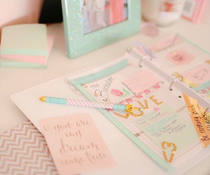 pastel, pink, and school image