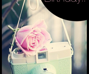 flowers, happy birthday, and photograph image