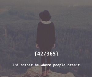 alone, quote, and love image