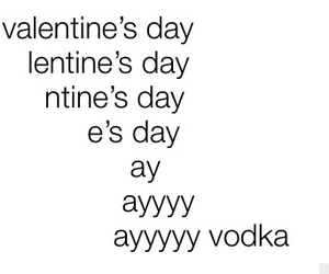 vodka, Valentine's Day, and valentine image