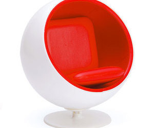 ball chair, design, and furniture image