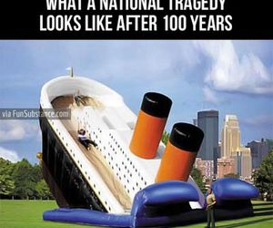 funny, titanic, and awesome image