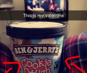 alone, Valentine's Day, and ben&jerry's image