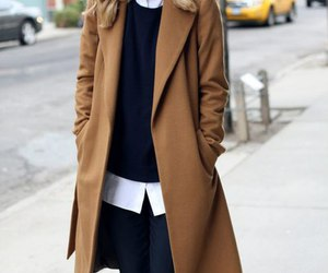 color inspiration, shirt, and brown coat image