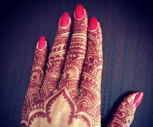 henna, henne, and art image