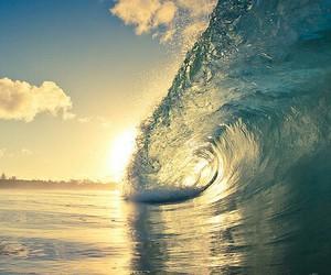 waves, summer, and sea image