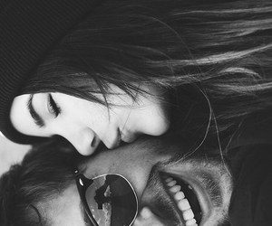 black and white, boyfriend, and kiss image
